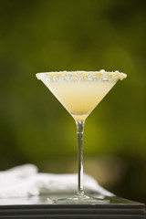 Lemon vodka martini