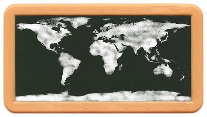 Child's Mini Chalkboard World Map.