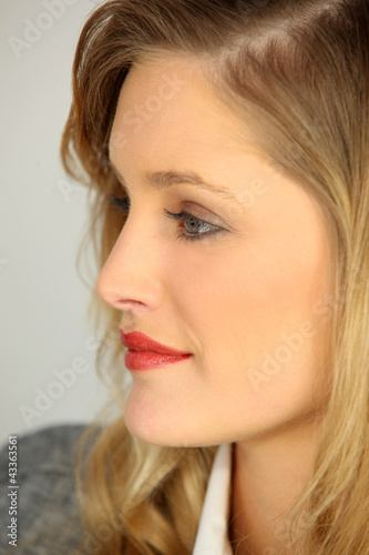 Profile of an attractive woman