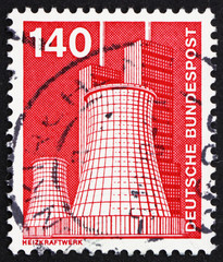 Postage stamp Germany 1975 Heating Plant, Licterfelde