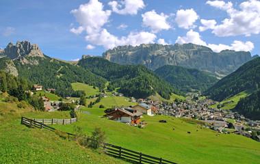 Urlaubsort Wolkenstein im Grödnertal in Südtirol