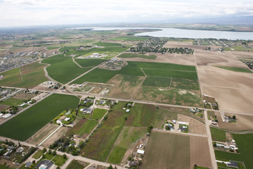 Aerial view of farmland