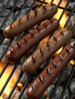 Hotdogs on grill