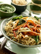 Noodle stir-fry with coconut curry