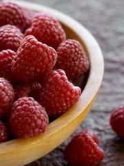 Raspberries served in bowl