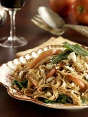 Linguini pasta with pumpkin