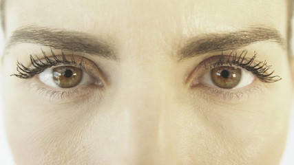 Close up of Hispanic woman's eyes
