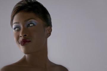 Glamorous mixed race woman