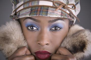 Fashionable mixed race woman