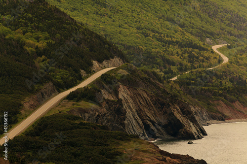 Road along remote cliff