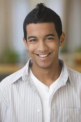 Smiling Hispanic teenage boy