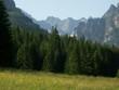 Panorama Doliny Kaczej z polany Biała Woda w Tatrach