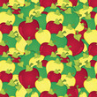 Apples seamless pattern