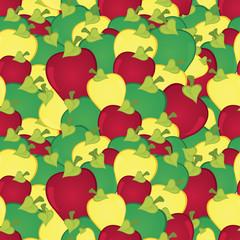 Apples seamless pattern