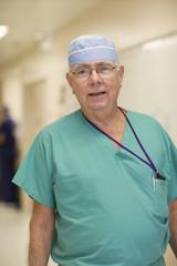 Doctor standing in  hospital corridor