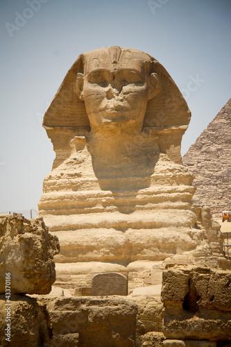 Sfinks i Piramida Chefrena