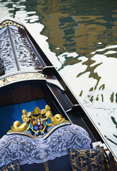 Ornate gondola in canal