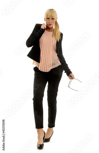 Blonde elegante Geschäftsfrau