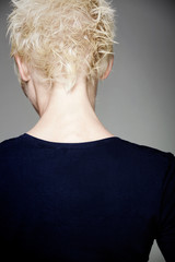 skinny female neck and back