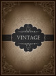 Vintage card design template, vector.