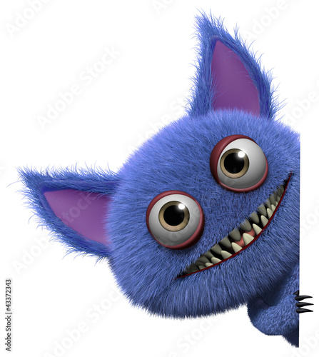 Deurstickers Sweet Monsters furry gremlin