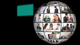 Globe of corporate business's videos