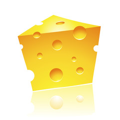 Cheddar Cheese with Reflection