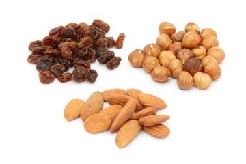 Frutta secca - Nuts and raisins