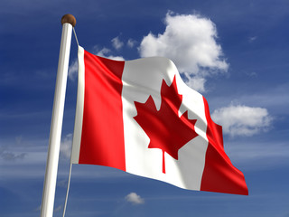 Canada flag (with clipping path)