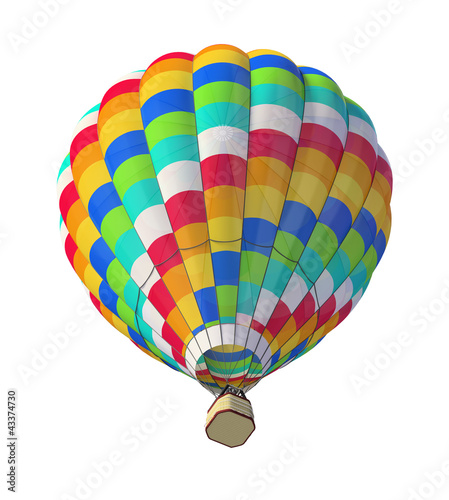 Hot air ballon isolated on white