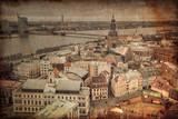 Vintage style photo. Riga. Latvia