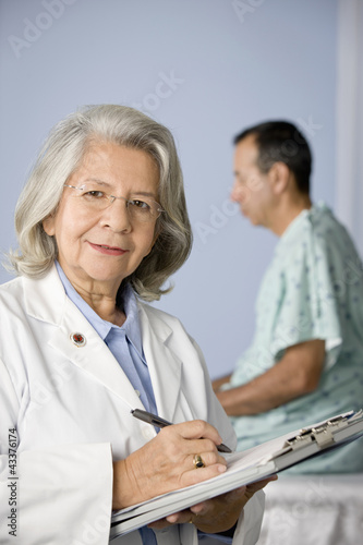 Doctor and patient in examination room