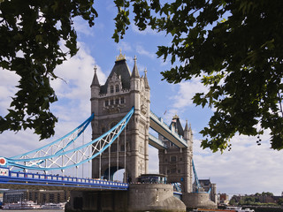 Tower bridge across river