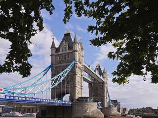 Tower bridge across river