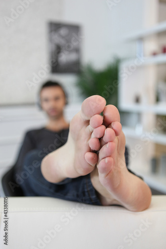 Bare-footed man