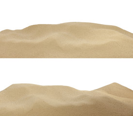 sand on beach background texture isolated