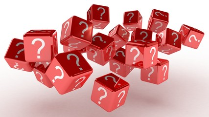 Cubes with a question