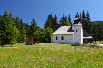 A Church in a field .