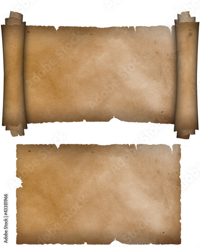 Parchment Paper Scroll Scroll of Parchment And Old
