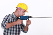 Man using power drill