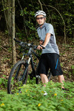 Portrait eines Mountainbikers