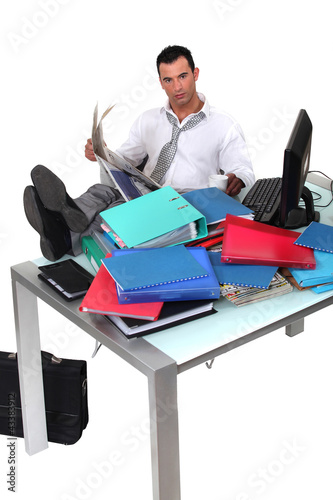 Overwhelmed executive