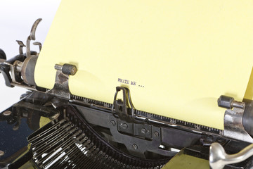Detail of Old Typewriter