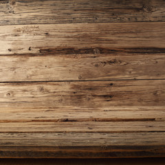 wooden background of empty space