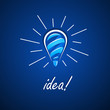 Light bulb idea. Vector illustration