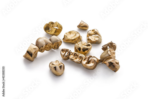 Leinwandbild Motiv Goldzähne