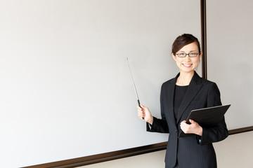 asian businesswoman on meeting