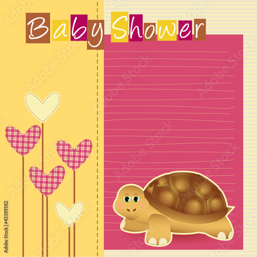 baby shower - turtle - nascita bimba - it's a girl