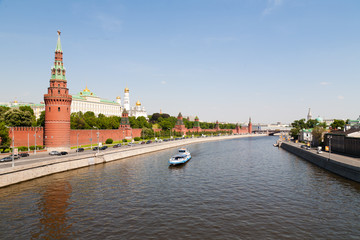 Moscow Kremlin view from the river