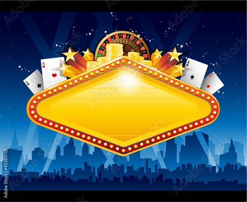 Casino city background - 43389705